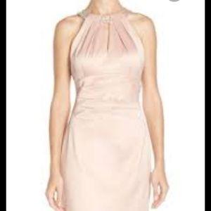 Eliza j jeweled halter dress with tags